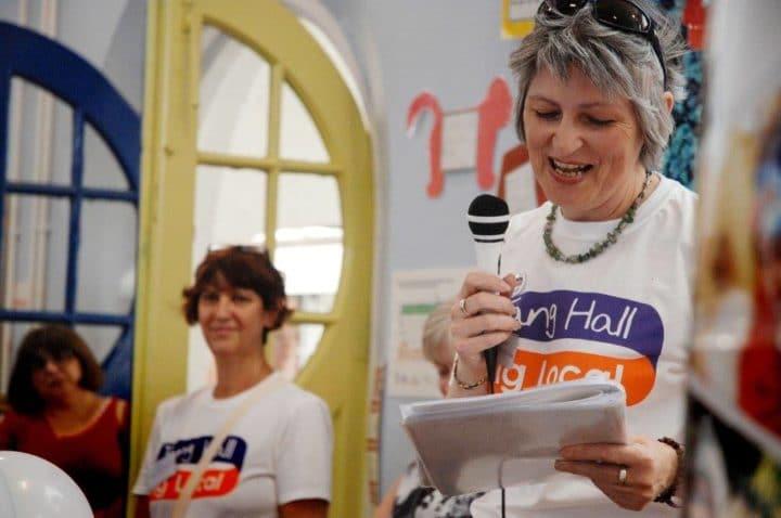woman at tang hall plan launch