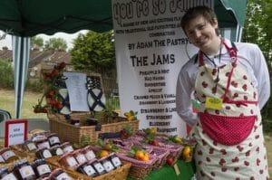 man selling jams