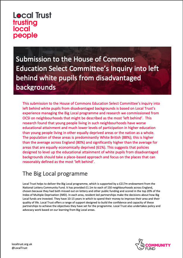 Education select committee response