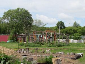 Woodwork project at Westraven community garden